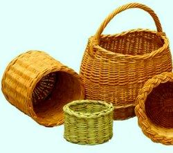 Плетение корзины из лозы